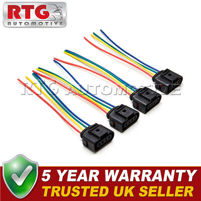 4x Ignition Coil Pack Wiring Harness Looms Fits Audi TT (Mk1) 1.8