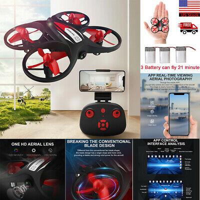 Wifi 720P HD Camera FPV Mini LED RC Drone Helicopter Quadcopter Remote Control