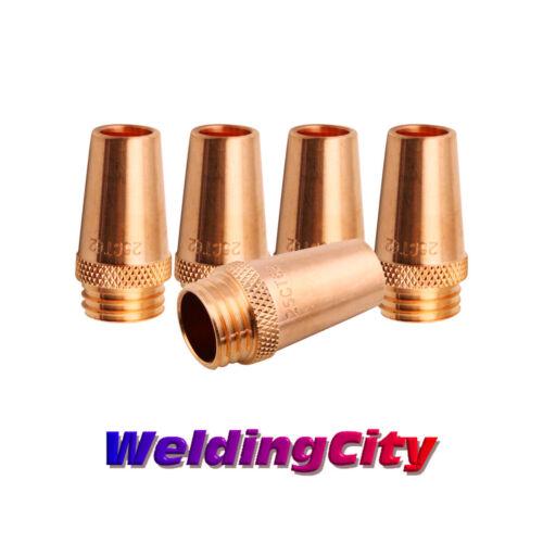 """WeldingCity® 5-pk MIG Welding Gun Nozzle 24CT-62S 5/8"""" for Lincoln Tweco 300-400"""
