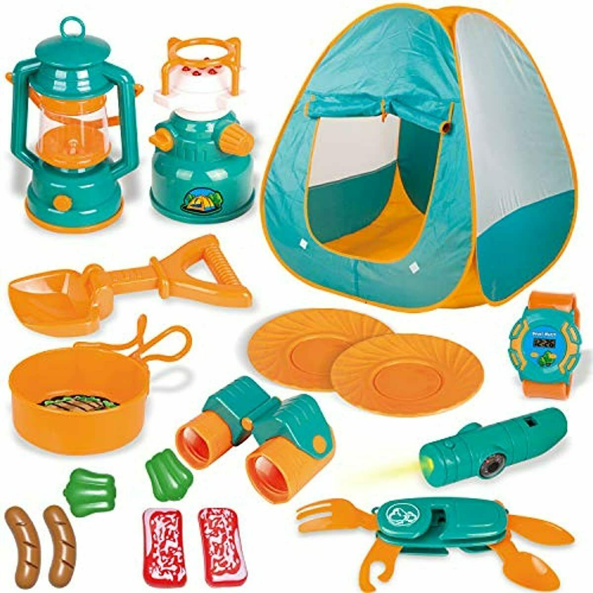 FUN LITTLE TOYS Kids Play Tent, Pop Up Tent with Kids Campin