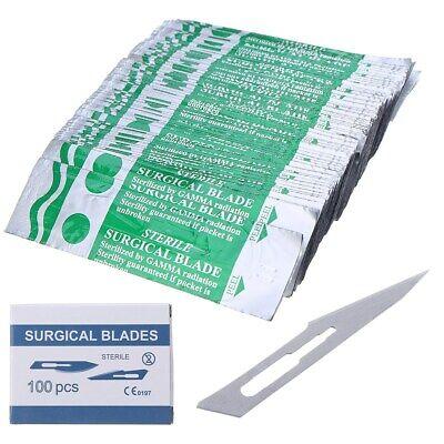 Stahl Chirurgische Klingen (100 Pcs 11 # Kohlenstoffstahl Skalpell Chirurgische PCB Scalpel Klinge Stichel )