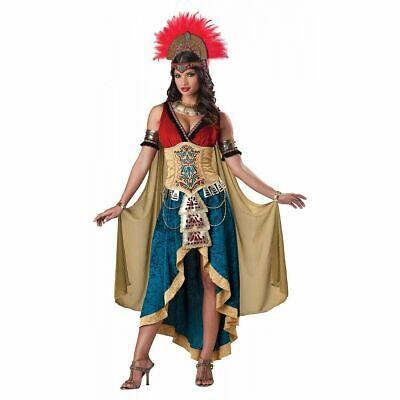 Aztec Costume Halloween (NEW Mayan Queen Costume Adult Aztec Indian Mexican Halloween Fancy Dress SZ)