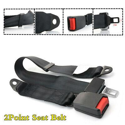 Car Interior Accessories Adjustable 2 Point Safety Seat Belt Whip Lap Belt Kit