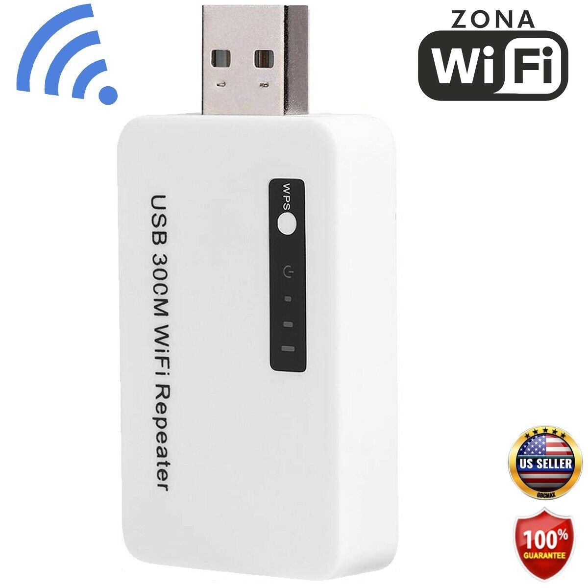 300 Mbps Wireless USB WiFi Range Extender Wi-Fi Signal Repea