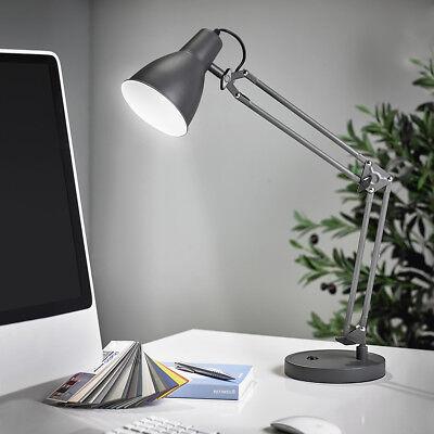 LED Schreibtischlampe Leuchte Bürolampe Leselampe Nachttisch anthrazit T77-1 WOW