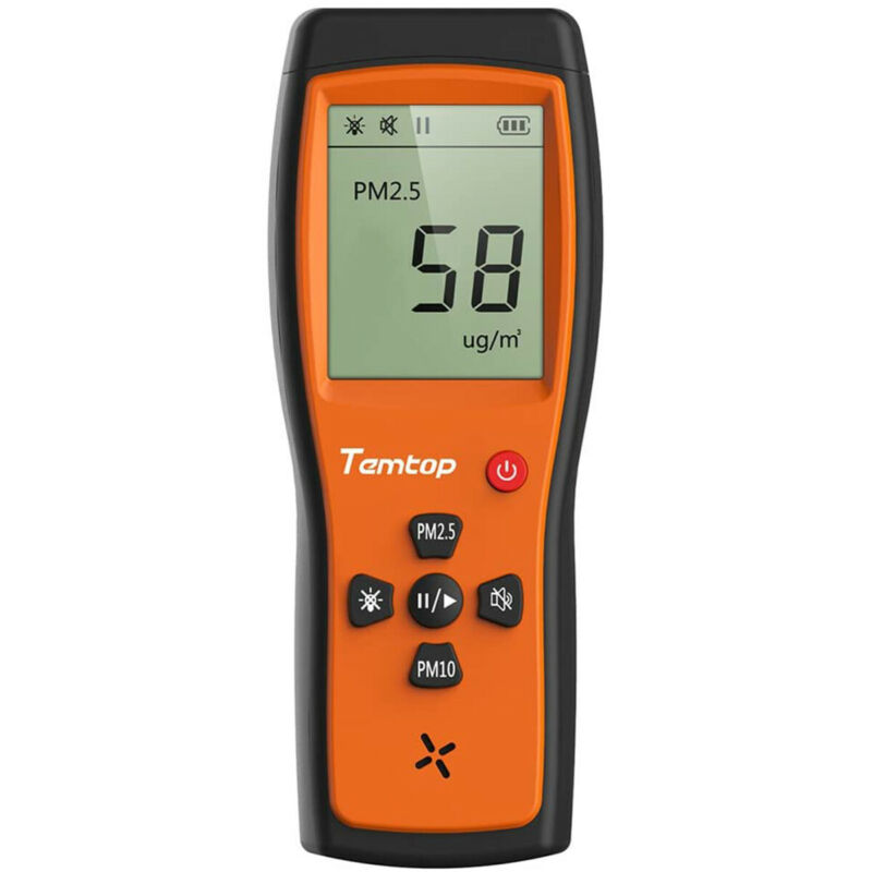 Used Temtop P200 Air Quality Laser Particle Monitor Detector PM 2.5 PM10 LCD