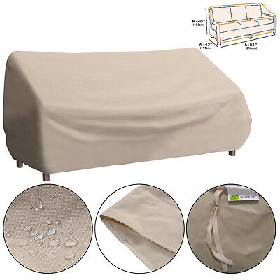 Waterproof High Back Patio Three-seats Sofa Cover Outdoor Furniture Protection