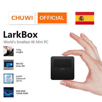 CHUWI LarkBox Mini PC Intel Celeron J4115 Windows 10 Quad Core 6+128GB...