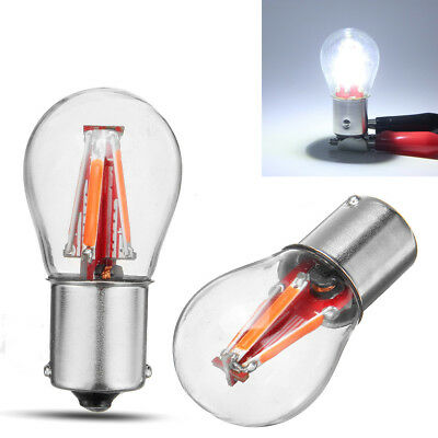 Used, 4LED Filament 1157 BAY15D 21/5W Car Reverse Backup Stop Brake Light Bulb White for sale  Shipping to Canada