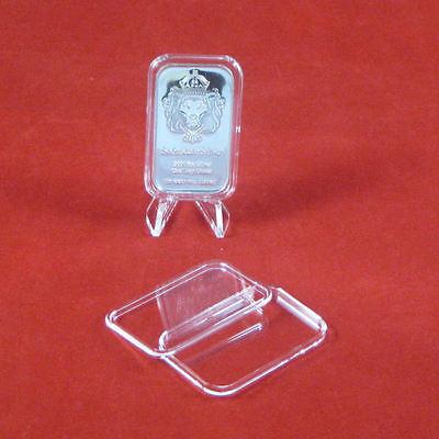 10 Air-Tite 1 oz Silver Bar Direct Fit Bar Holder Capsules