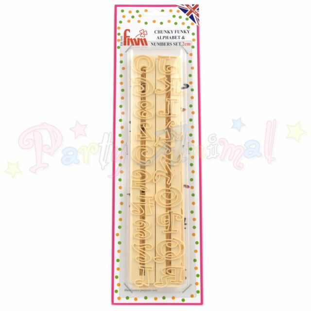 FMM Sugarcraft - CHUNKY FUNKY Alphabet & Number Tappit Cutters