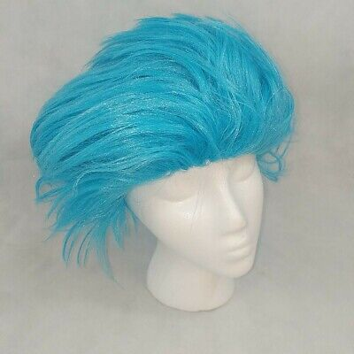 Thing 1 or 2 Blue Wig Dr. Seuss Cat in Hat Spirit Halloween Adult Sz S/M