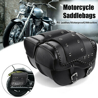 QUORA Motorcycle Tool Brown Bag Luggage Saddlebag Roll Barrel Storage For Harley Sportster
