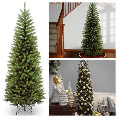 National Tree 6 Foot Kingswood Fir Pencil Christmas Tree with Metal Stand