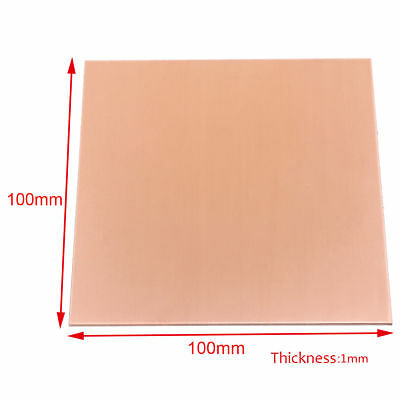 1pc 99.9 Pure Copper Cu Sheet Thin Metal Sheet Foil 100x100x1mm