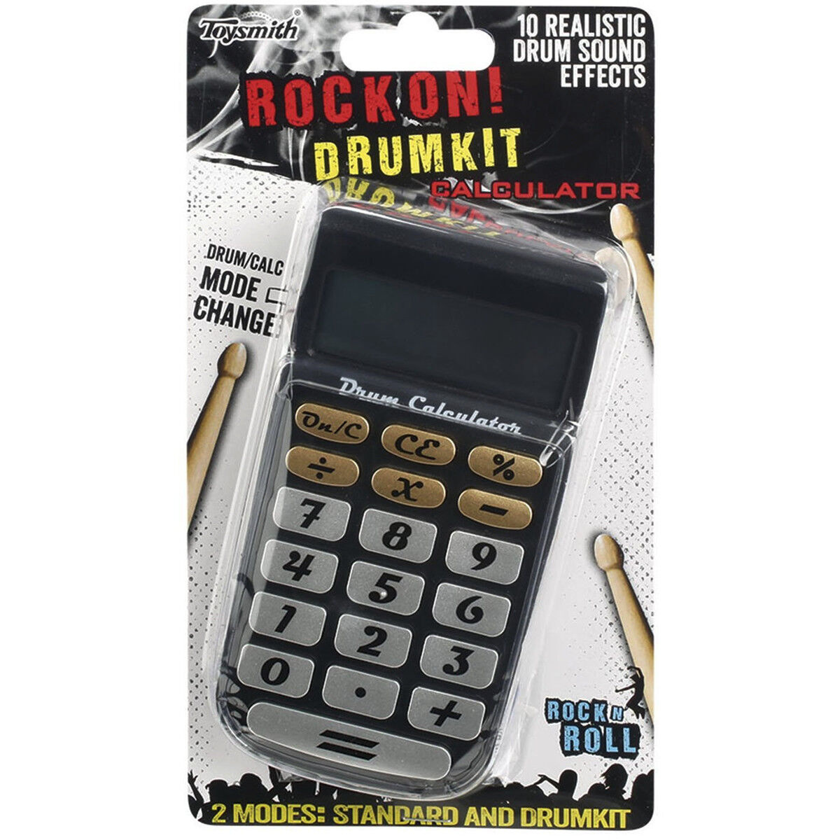 Rock On Drum Sound Calculator Basic Portable Pocket Students Funny Gift Ideas