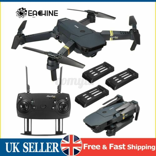 Eachine E58 WIFI FPV 2MP/0.3MP Camera Foldable RC Drone Quadcopter 1/2/3 Battery