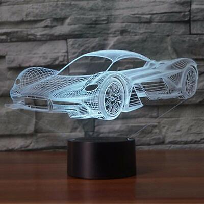 3D Illusion Lamp Car-shape Led Night Light Flashing Touch Bedroom Lighting Decor