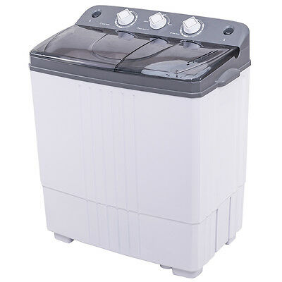 غسالة ملابس جديد Portable Mini Compact Twin Tub 16Lbs Total Washing Machine Washer Spain Dryer