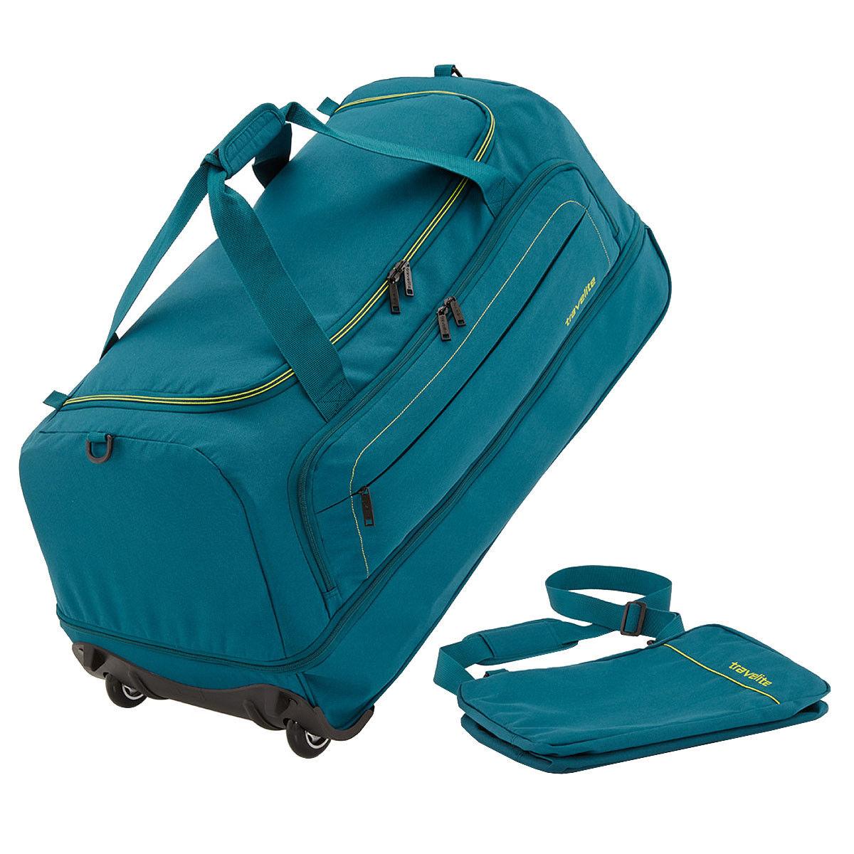 Travelite Basics faltbare Rollen Reisetasche Falttasche Duffel Trolley 1,7 kg