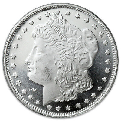 Купить Morgan Dollar Design 1 Troy Oz .999 Fine Silver Rounds SKU31046