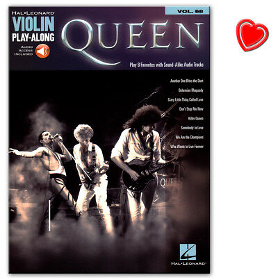 Queen: Violin Play-Along - Volume 68  - Hal Leonard - HL00221964 - 9781495089671