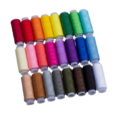 New 24 Color 100% Pure Cotton Finest Quality Sewing All Purpose Thread Reel