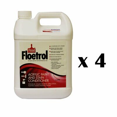 Flood Floetrol Acrylic Stain Conditioner Painting Additive 4L x 4 Bulk Listing