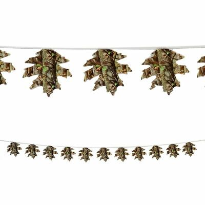 Camo Camouflage Leaf Banner Leaf String Hunting Decoration Party Supply](Camouflage Decorations)