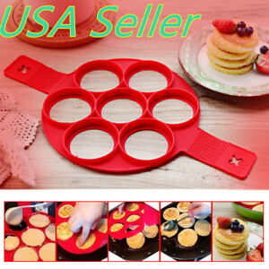 New Silicone Pancake Mold Shaper Fried Egg Non Stick Egg Maker Kitchen DIY Tools