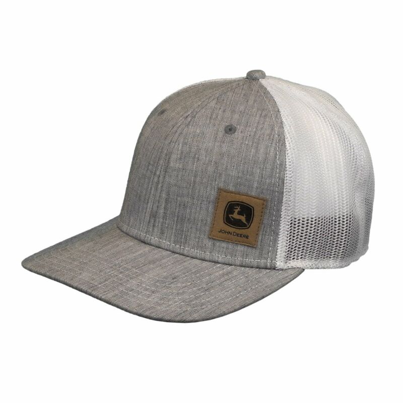 John Deere Hat Flat Bill   Mens Sueded Logo Cap  LP73374