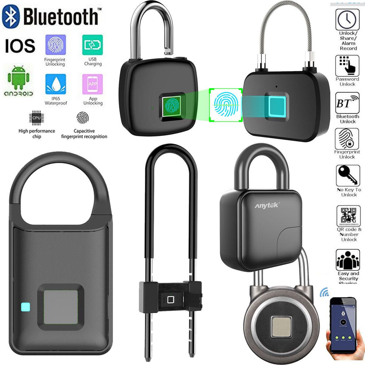 Waterproof Fingerprint Padlock Smart APP Bluetooth Lock Door