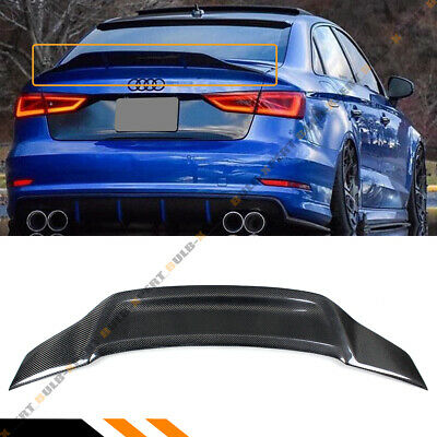 FOR 2014-18 AUDI A3 S3 RS3 8V SEDAN RT STYLE CARBON FIBER DUCKBILL TRUNK SPOILER