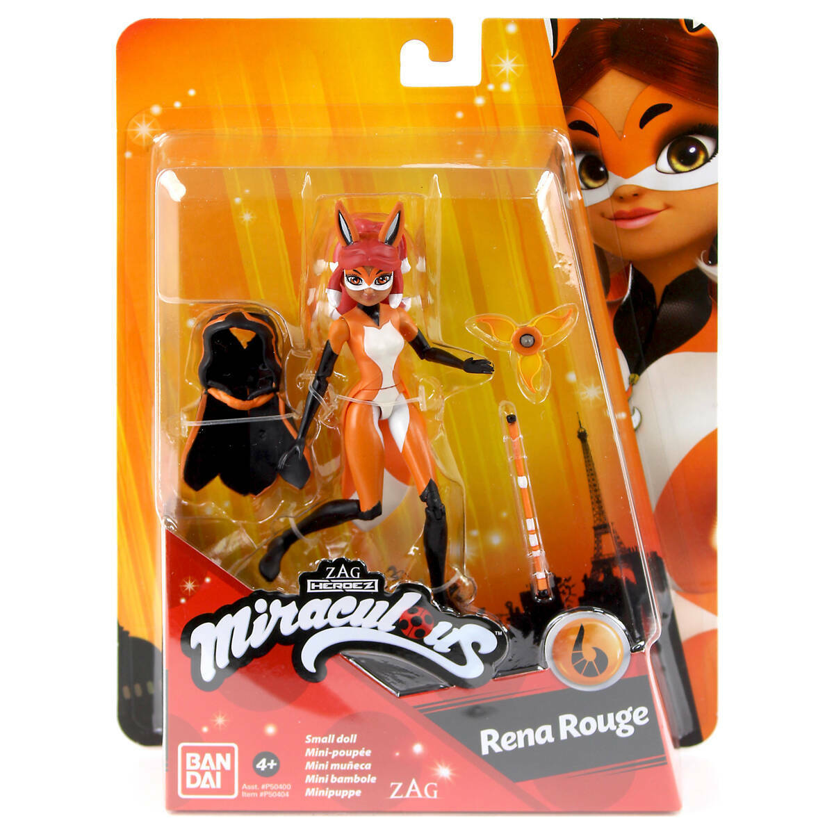 Miraculous Ladybug 12cm Rena Rouge: flute weapon and a removable cape