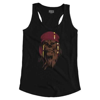 Chewbacca Tank Top (Disney Wars Chewbacca Pirate Star Graphic Wookie Womens Racerback Tank)
