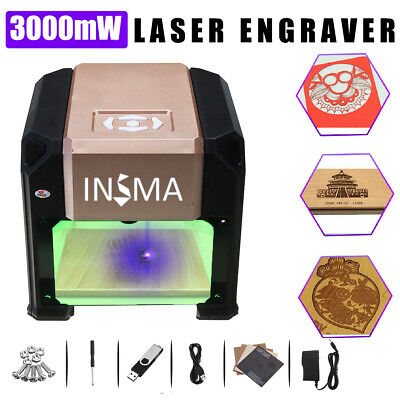 Real 3000mw Usb Laser Engraver Diy Mark Printer Carver Cnc Engraving Machine New