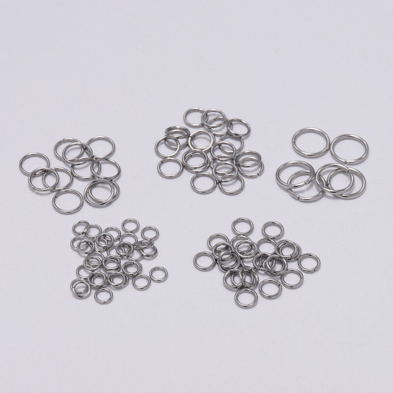 200Pcs Stainless Steel Open Jump Rings Split Rings Connector for Jewelry Making#