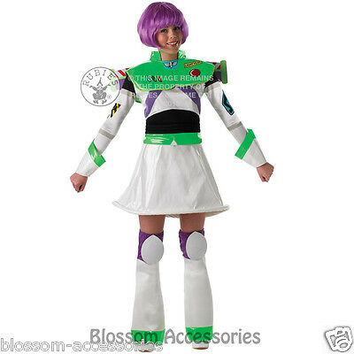 CL325 Ladies Buzz Lightyear Toy Story Fancy Dress Womens Adult Costume Outfit