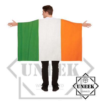 St Patrick's Day Wearable Irish Flag Cape Ireland Paddy's Party Fancy Dress Up - St Paddy's Day Fancy Dress Kostüm
