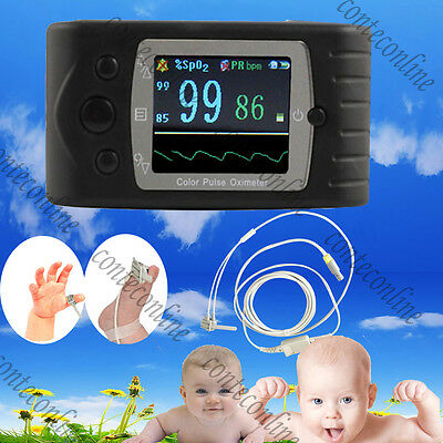60C Neonatal Infant Kids Baby Hand-Held Pulse Oximeter w USB PC software CE FDA