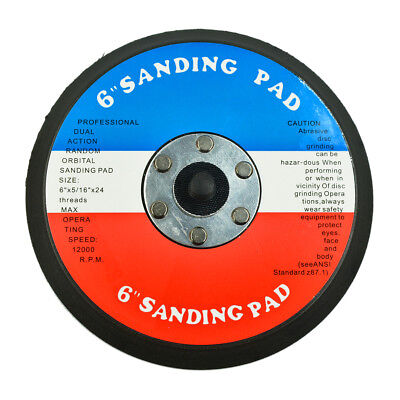 "New 6"" Face Sanding Pad For Grinders DA Disc Paper USA"