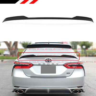 FOR 2018-2019 TOYOTA CAMRY SE XSE LE XLE GLOSSY BLACK V STYLE TRUNK LID SPOILER