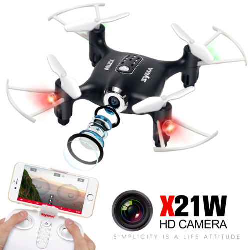 RC Drones Syma X21W HD Camera WIFI FPV 2.4 G Helicopter Aircraft Kid Toy Gift