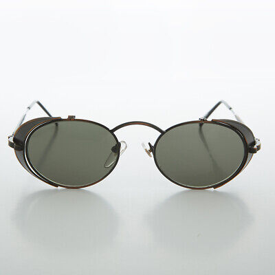 Steampunk Goggle Sunglasses with Side Shields Vintage Copper - Orson
