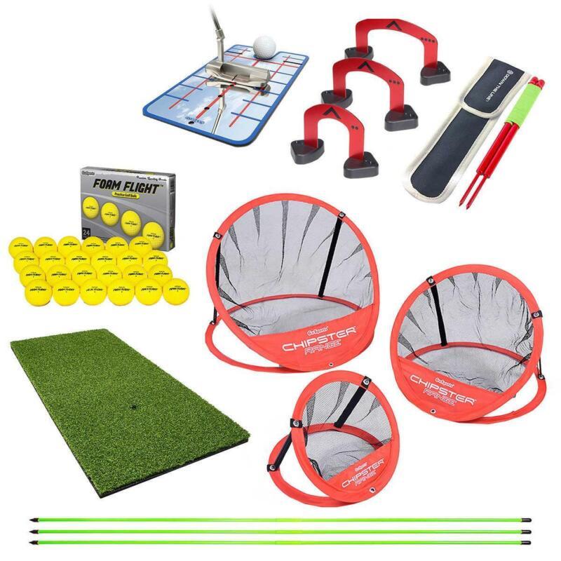 NEW GoSports Premier Golf Practice Bundle w/ Turf Mat, Target System, Foam Balls