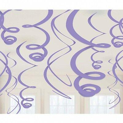 12 Lila Wirbel Wandbehang Lavendel Party Wandbehang Kostenloser Versand
