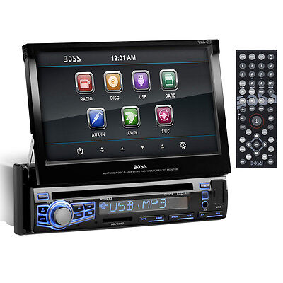 "New Boss BV9973 7"" Touchscreen Single Din Cd Dvd Mp3 Usb Car Audio Car Radio on Rummage"