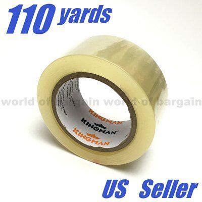 1 Roll Clear Packing Tape 110 Yard 1.6 Mil Carton Sealing Shipping Packaging C71