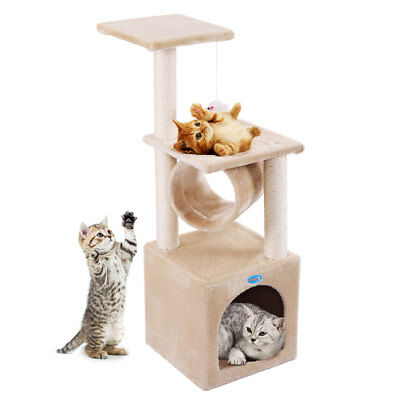36  Cat Tree Condo Furniture Play Toy Kitten Pet House Scratching Beige
