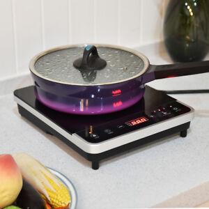 Electric Induction Cooker Single Burner Digital Hot Plate Cooktop Countertop New